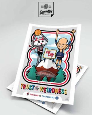 Portland Trailblazers Game Day Poster